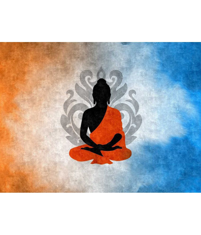 Tallenge  Buddha Silhouette with Lotus Flower Background  Canvas Art Prints Without Frame Single Piece