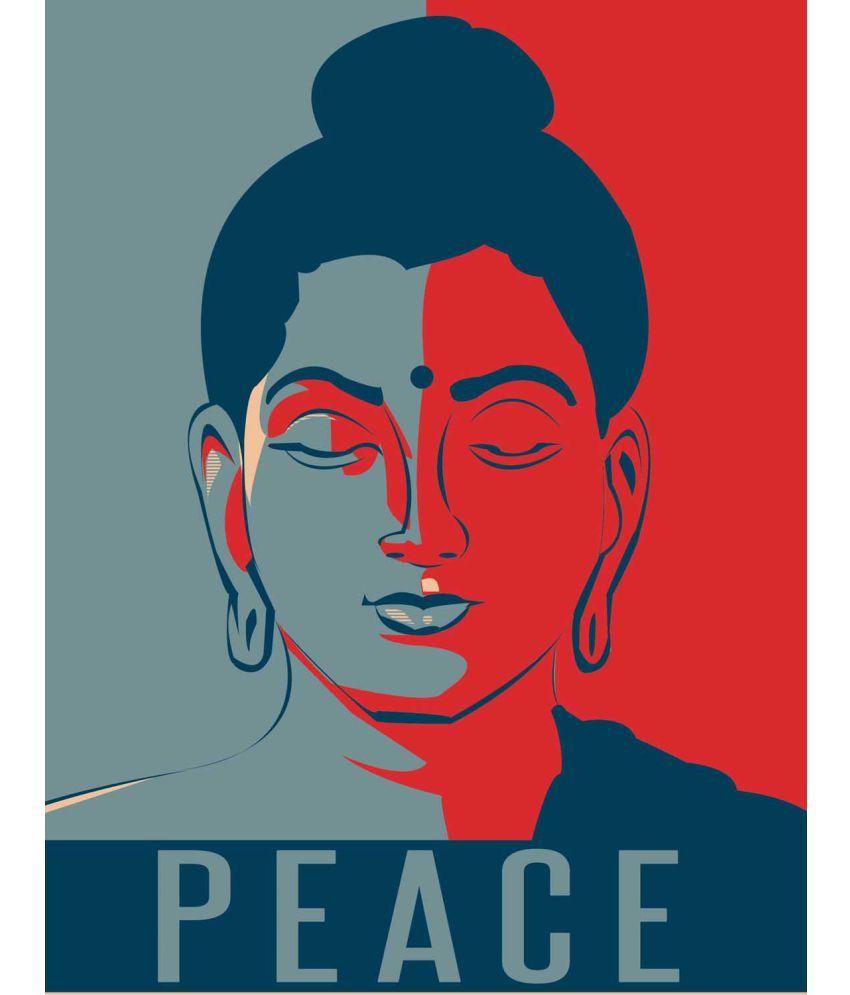 Tallenge  Modern Art - Buddha Peace  Canvas Art Prints Without Frame Single Piece