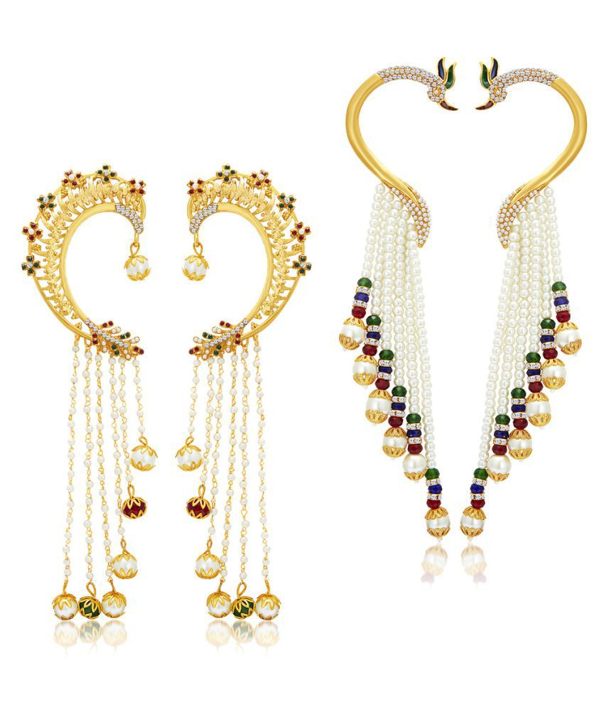 Sukkhi Multicolour Ear Cuffs - Set of 2
