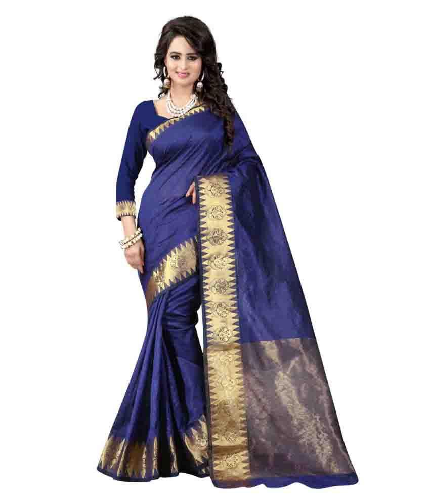 Fashion Storey Navy Art silk Saree