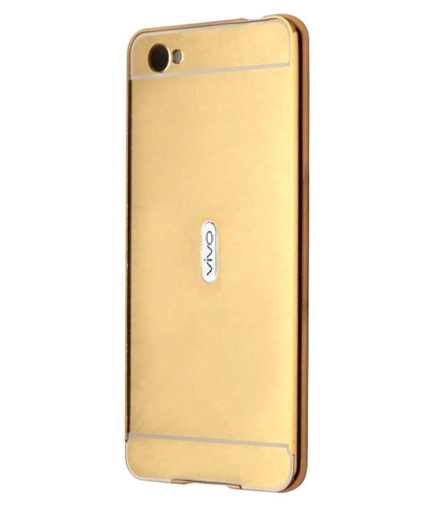 buy popular b5185 865c5 Vivo V1 Cover by BLJ - Golden