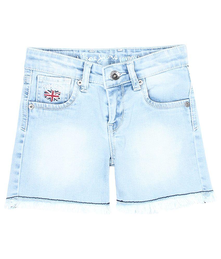 Pepe Blue Slim Fit Denim Shorts