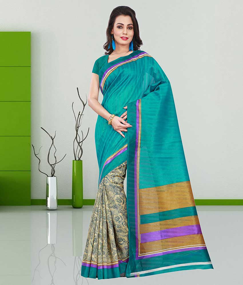 Shonaya Multicoloured Bhagalpuri Silk Saree