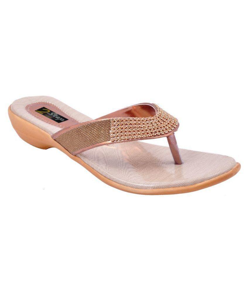 2 Step Gold Wedges Heels