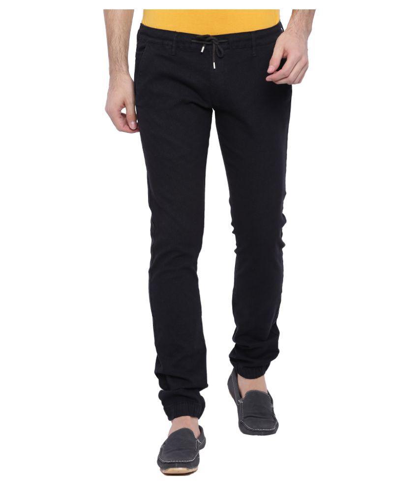 Bandit Black Slim Flat Trouser