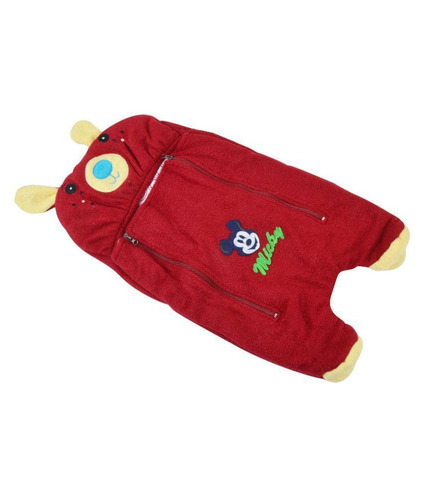 Chhote Janab Red Fleece Baby Wrapper