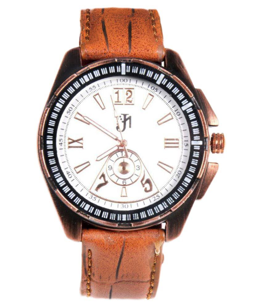 JM Brown Leather Formal Watch