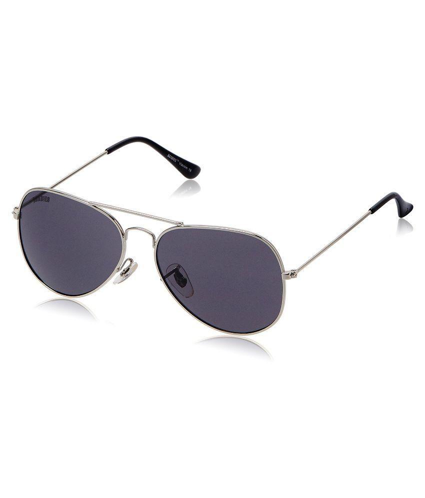 MTV Roadies Grey Medium Unisex Aviator Sunglasses