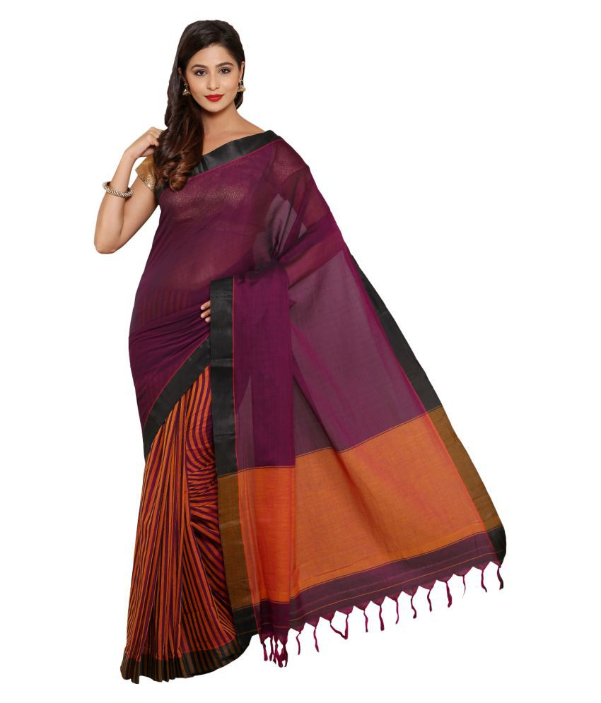 Satrang Multicoloured Cotton Saree
