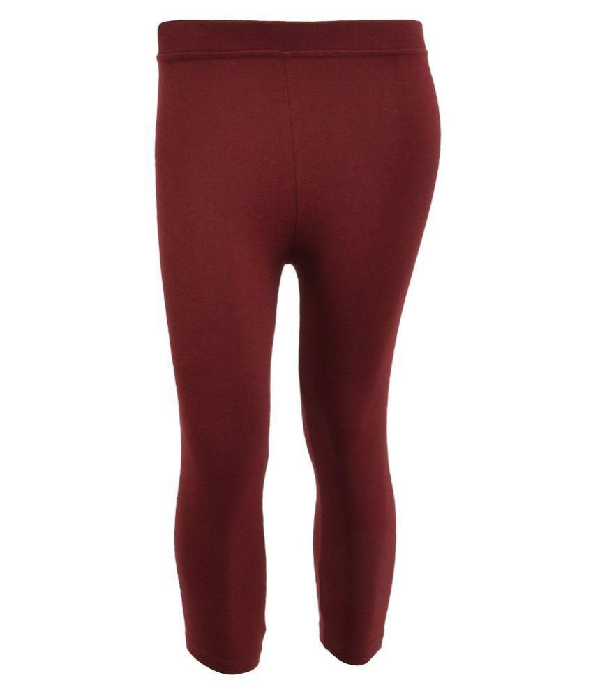 Tanus Maroon Cotton Capri