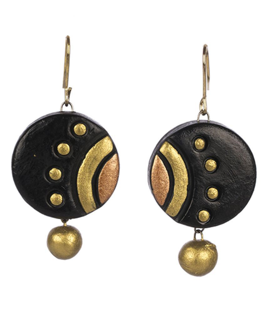 Avarna Black Hanging Earrings