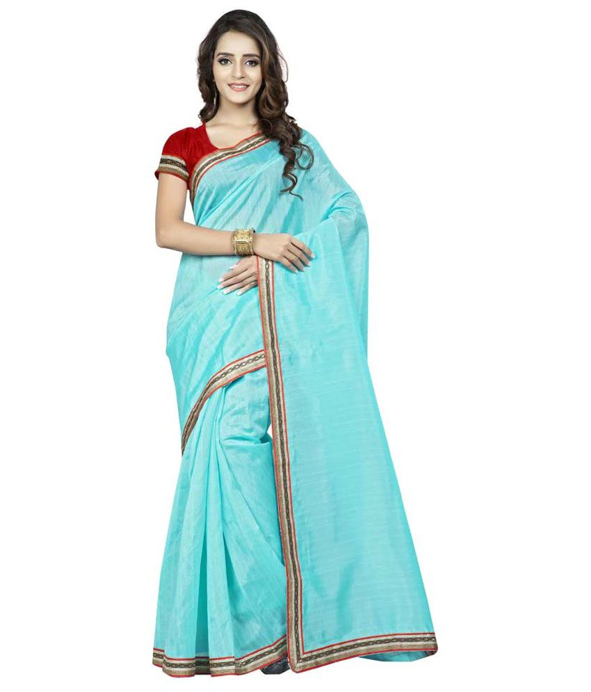 JK Apparels Blue Bhagalpuri Silk Saree