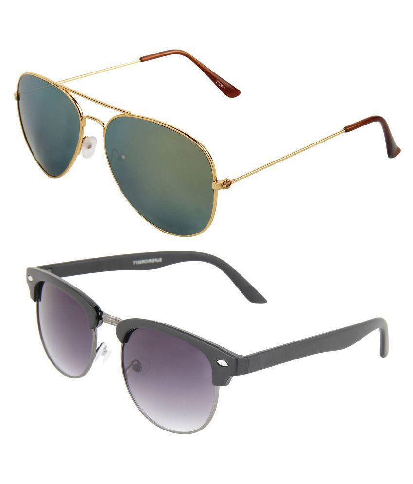 5a53715192d Zyaden Black Clubmaster Sunglasses ( Com-84 ) - Buy Zyaden Black Clubmaster  Sunglasses ( Com-84 ) Online at Low Price - Snapdeal