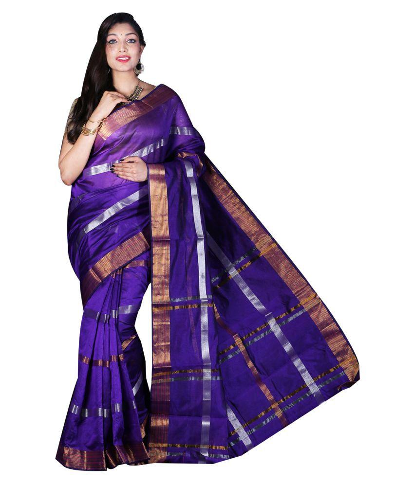Gajkeshri Blue Banarasi Silk Saree