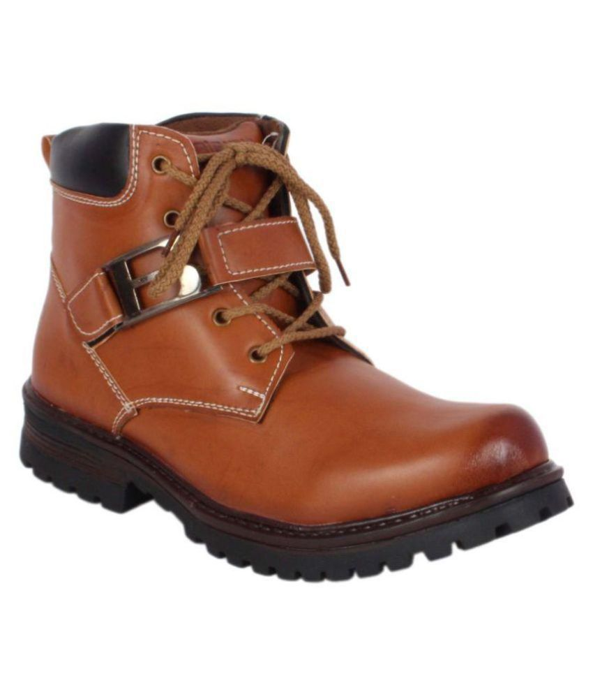 ShoeAdda Tan Causal Boot