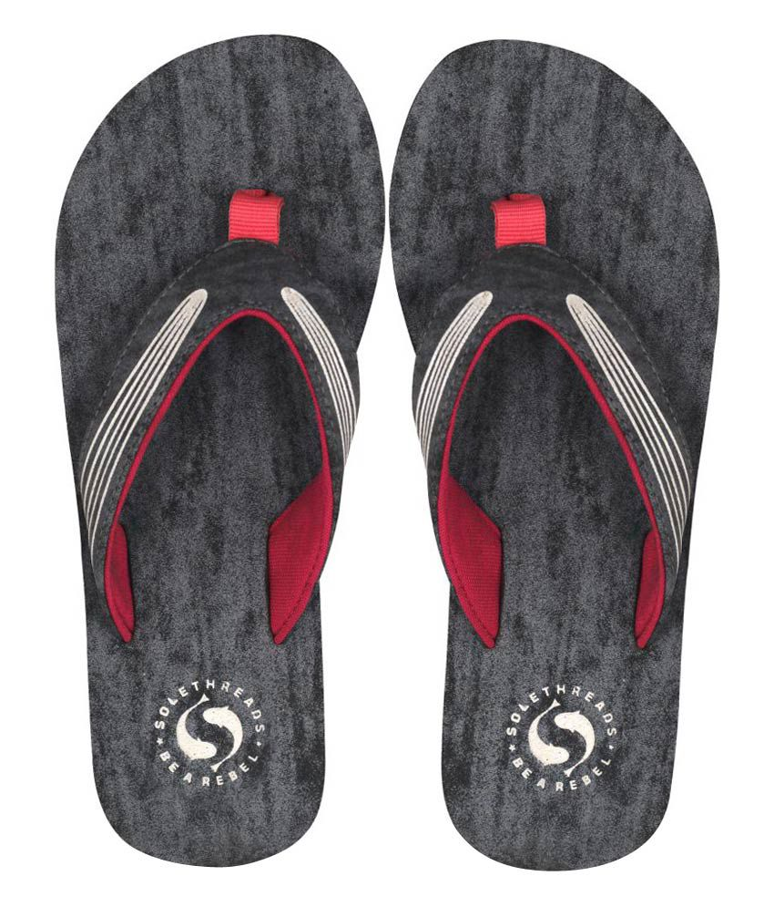 Sole Threads Gray Flip Flops