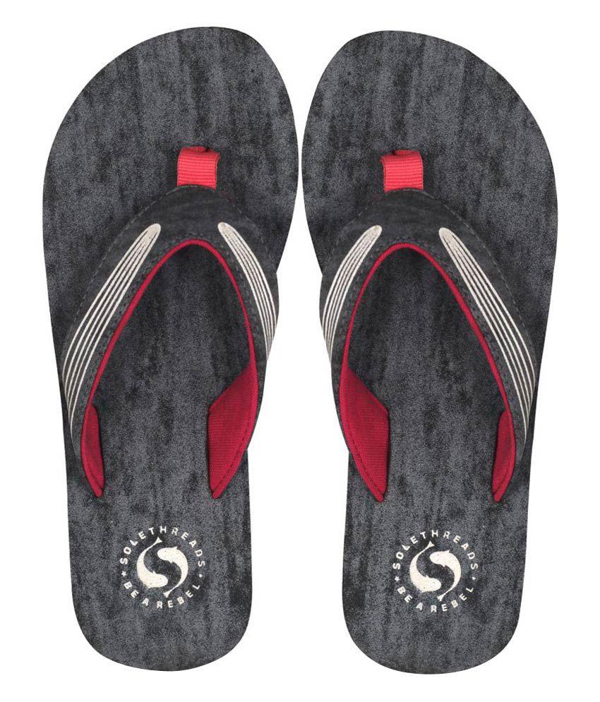 Sole Threads Gray Flip Flops