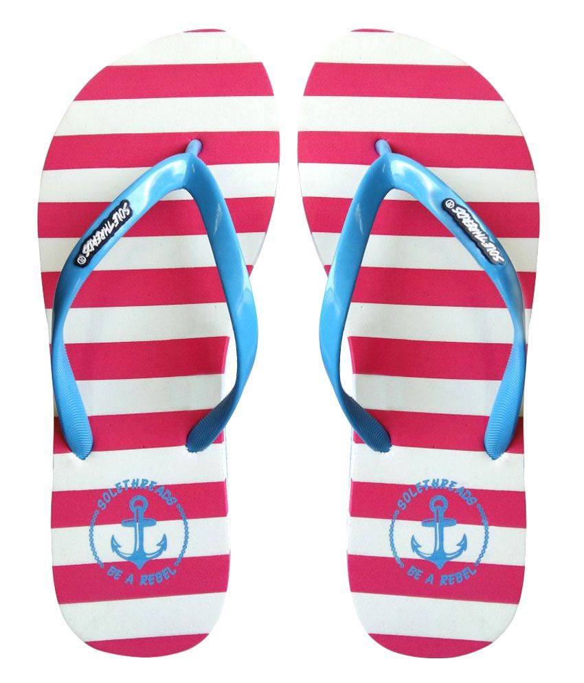 Sole Threads Pink & Blue Flip Flops