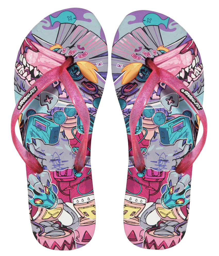 Sole Threads Pink Flip Flops