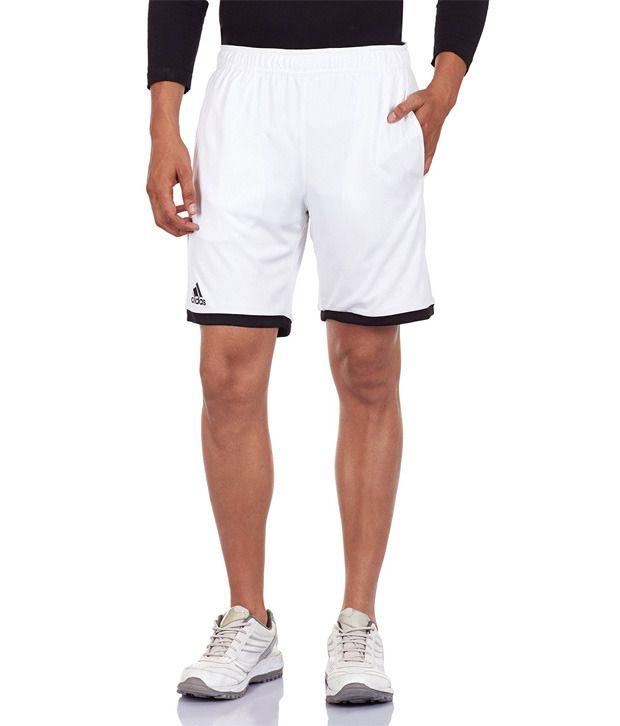 Adidas White Polyamide Shorts
