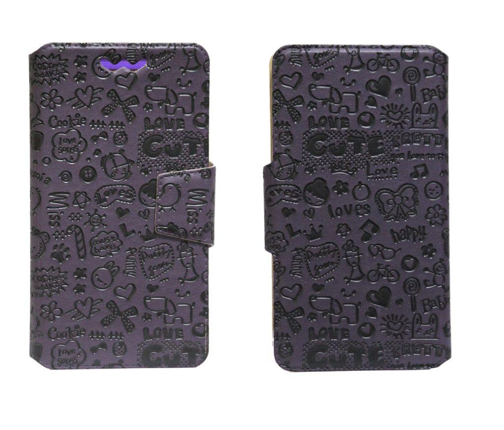 Celkon A200 Flip Cover by Jojo - Multi