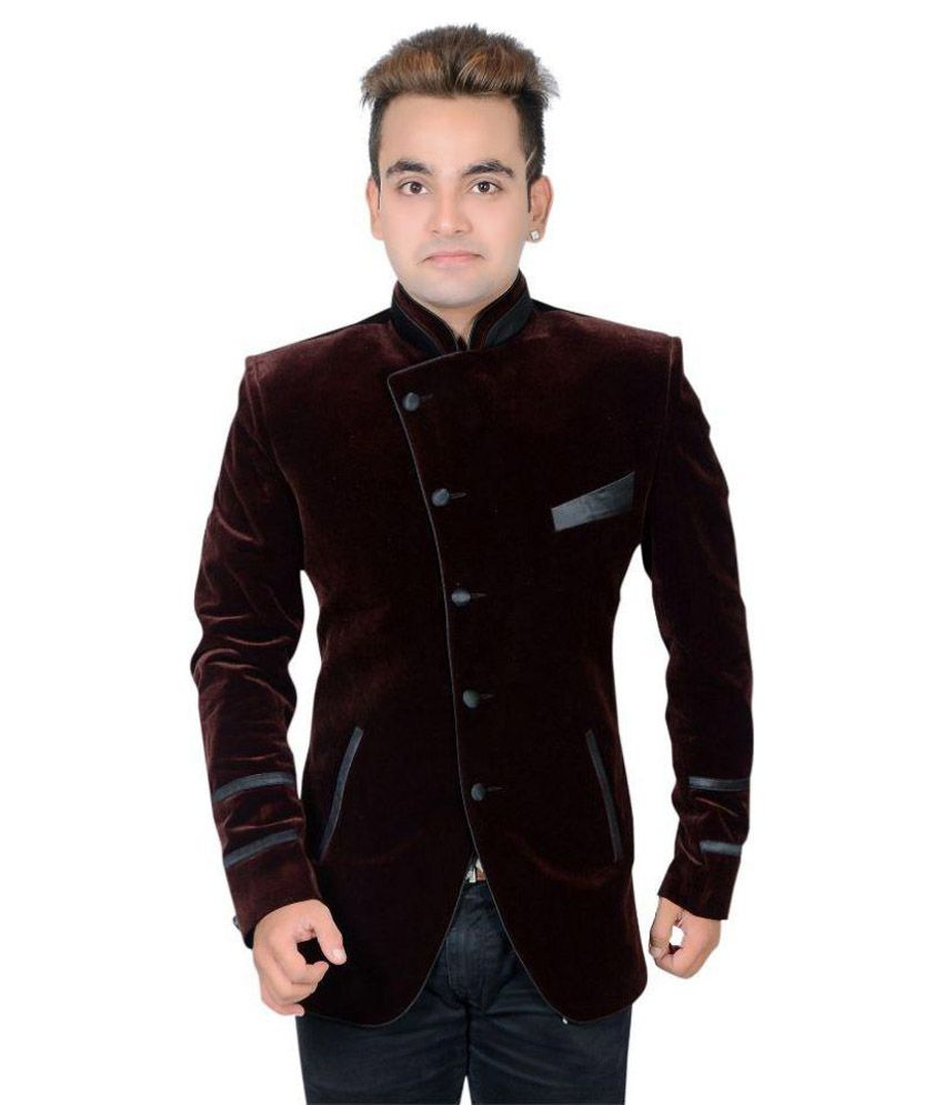 Shaurya-F Blue Solid Party Tuxedo