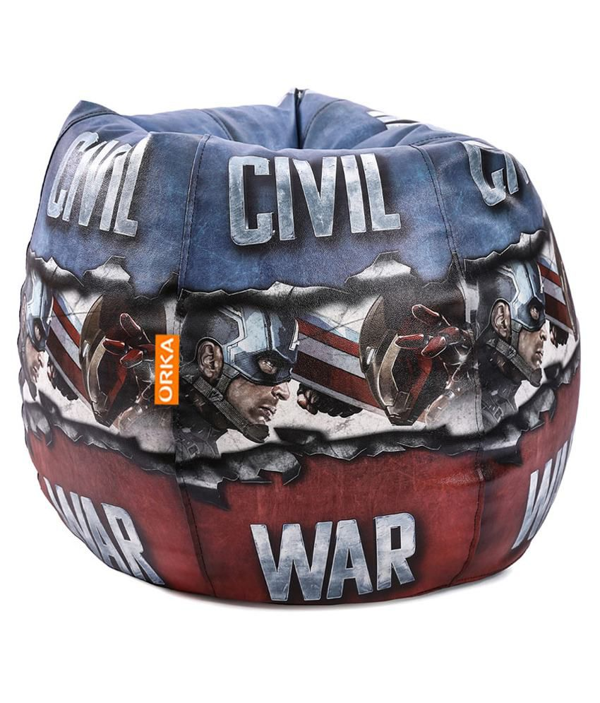 Super Orka Marvel Civil War Bean Bag Cover Multi Colour Buy Machost Co Dining Chair Design Ideas Machostcouk