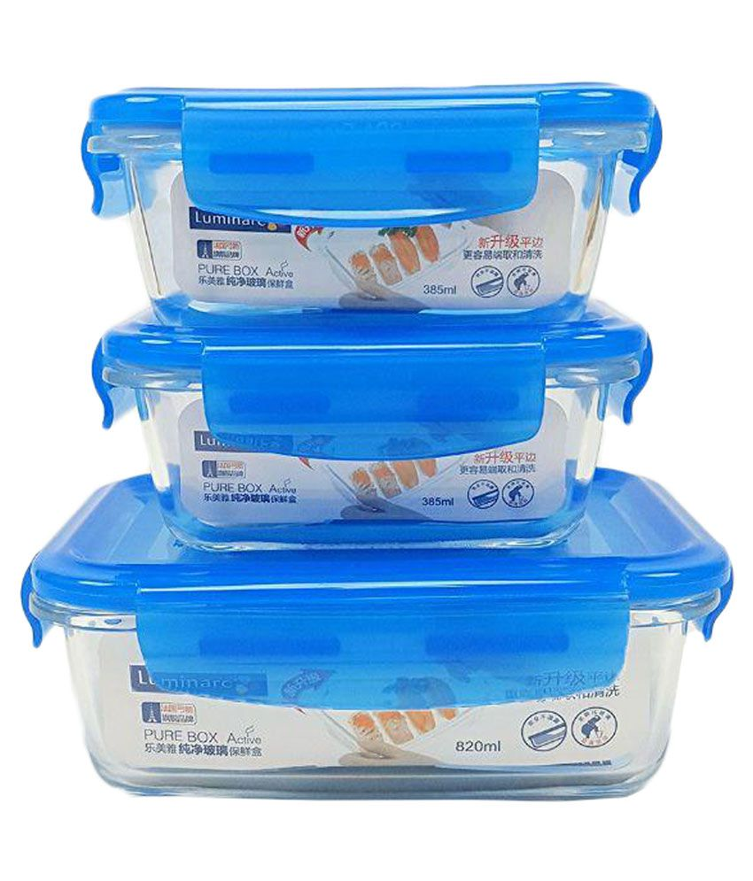 Luminarc Glass Food Container Set of 3 Buy Online at Best Price in