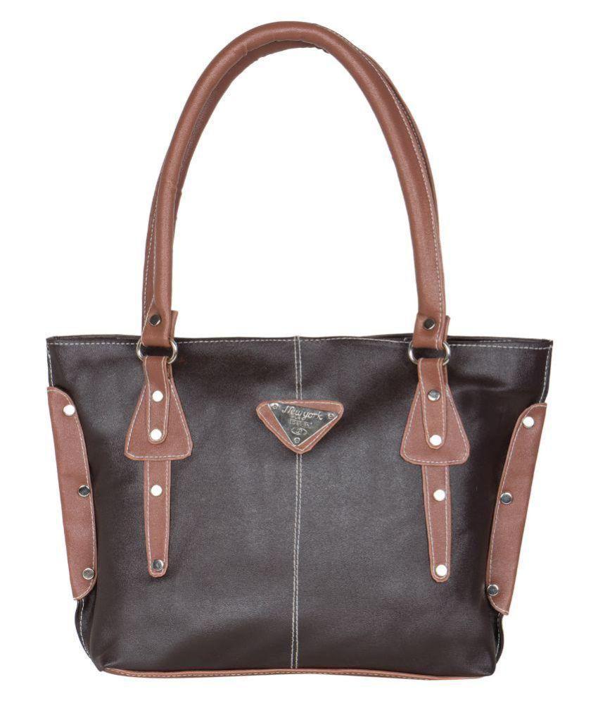 Relevant Yield Black Faux Leather Shoulder Bag