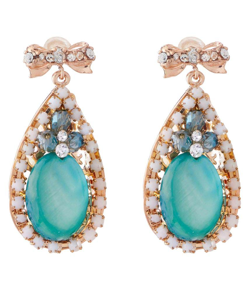 Jazz Jewellery Turquoise Drop Earrings