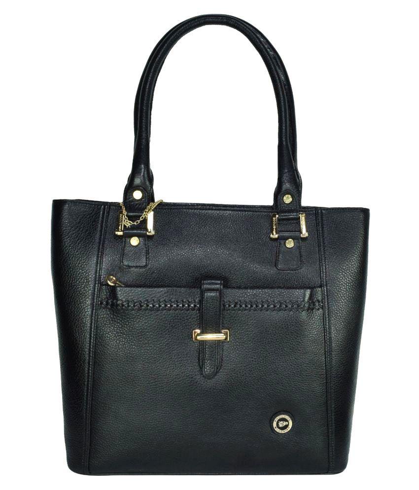 Moochies Black Pure Leather Handheld