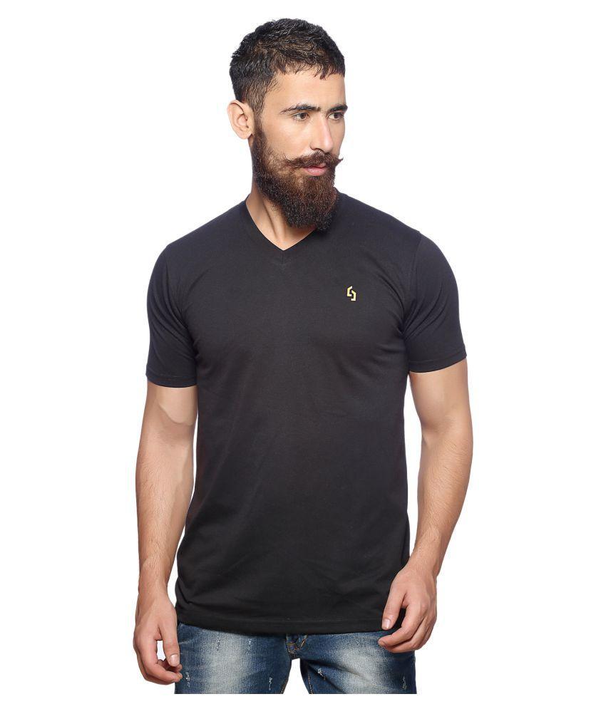 Nucode Black V-Neck T-Shirt