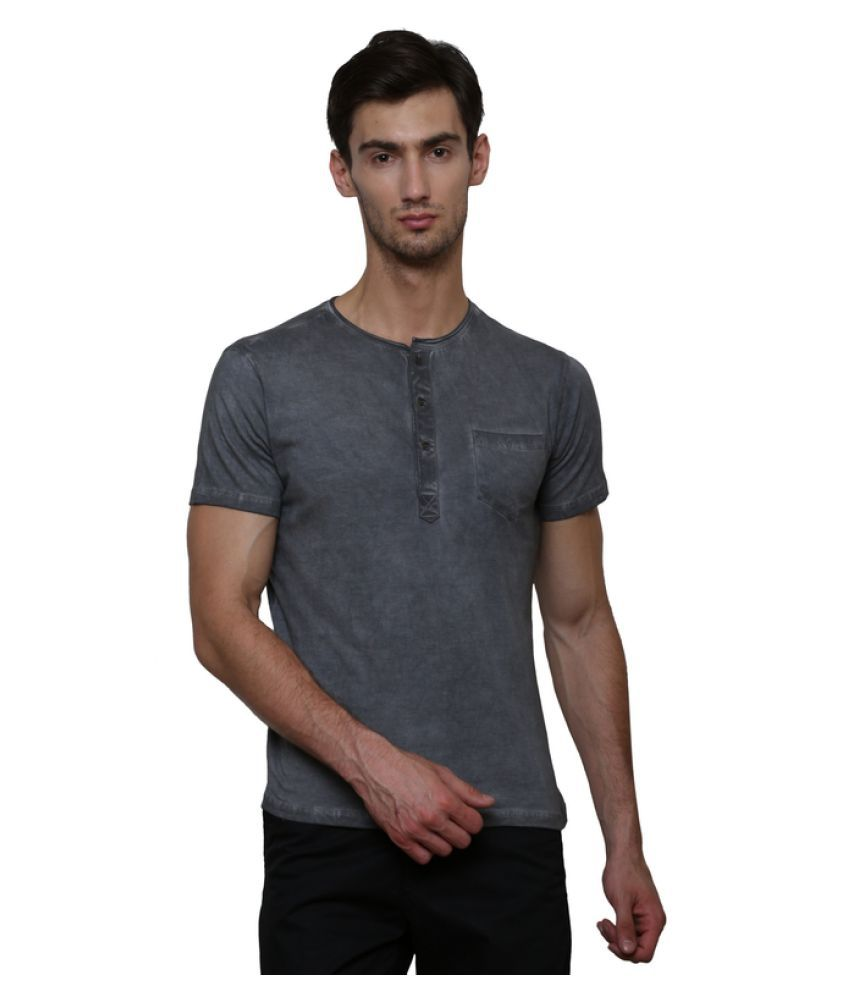 LE Bourgeois Black Henley T-Shirt