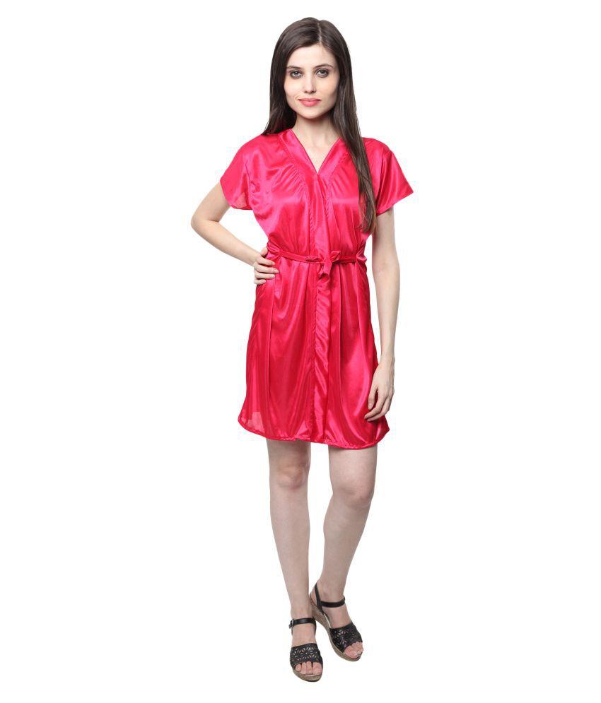 Neha Red Satin Robes