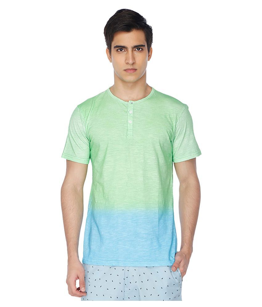 Life By Shoppers Stop Multi Henley T-Shirt