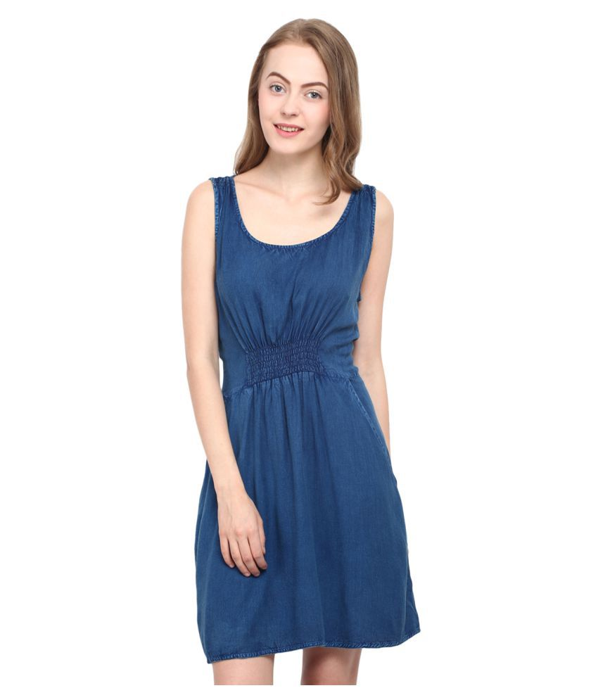 Free & Young Blue Viscose A- line