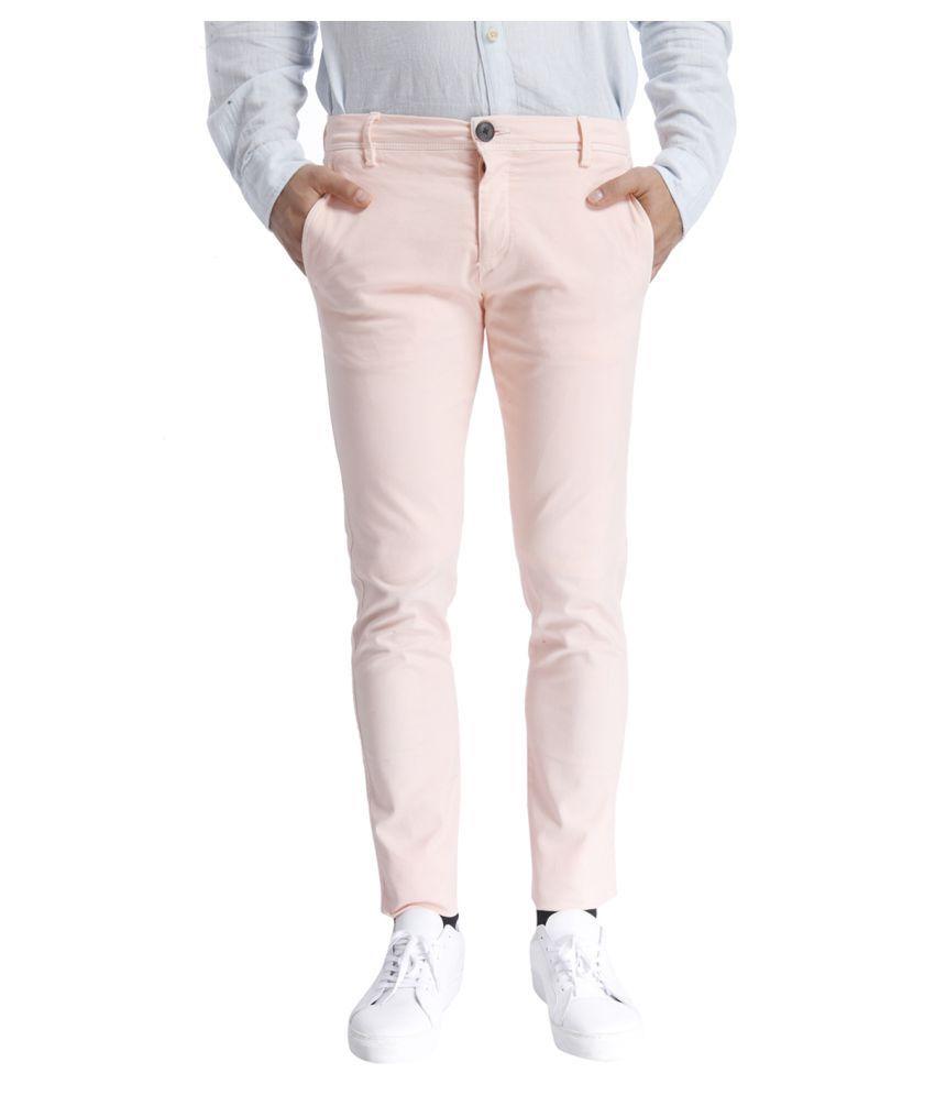 Selected Pink Slim Flat Trouser