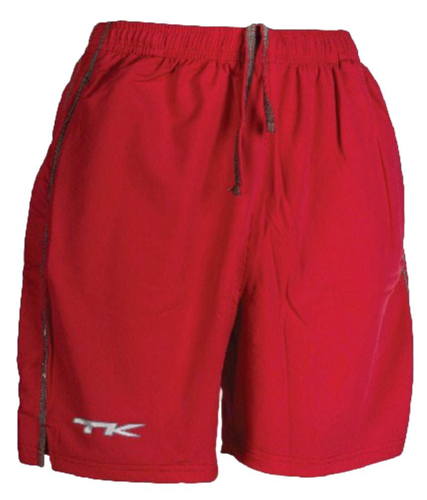 TK Red Polyster Shorts