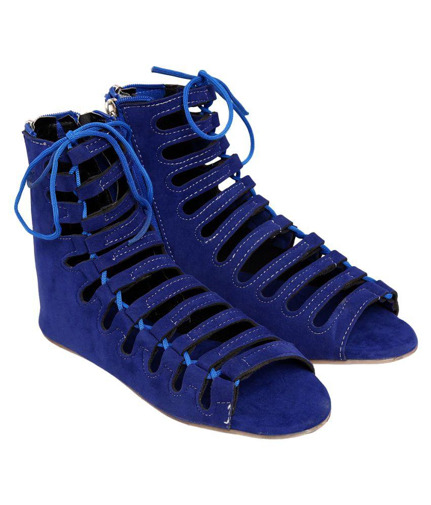 Jade Blue Flats
