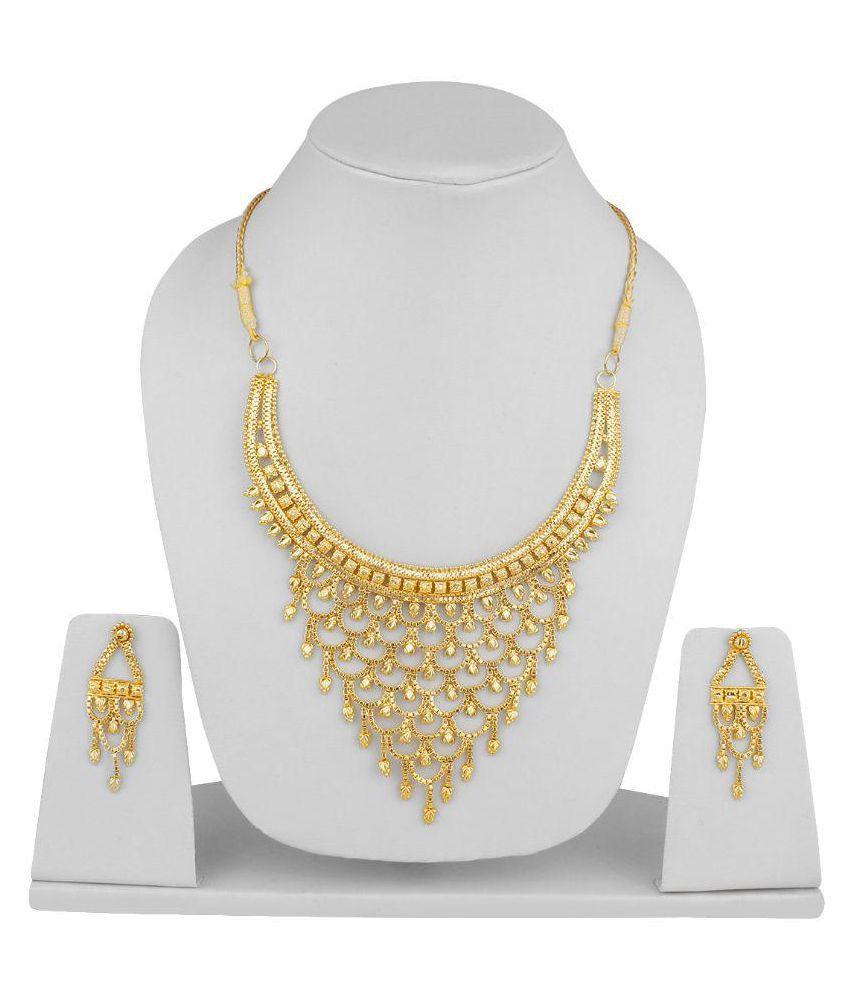 Styylo Fashion Golden Necklace Set