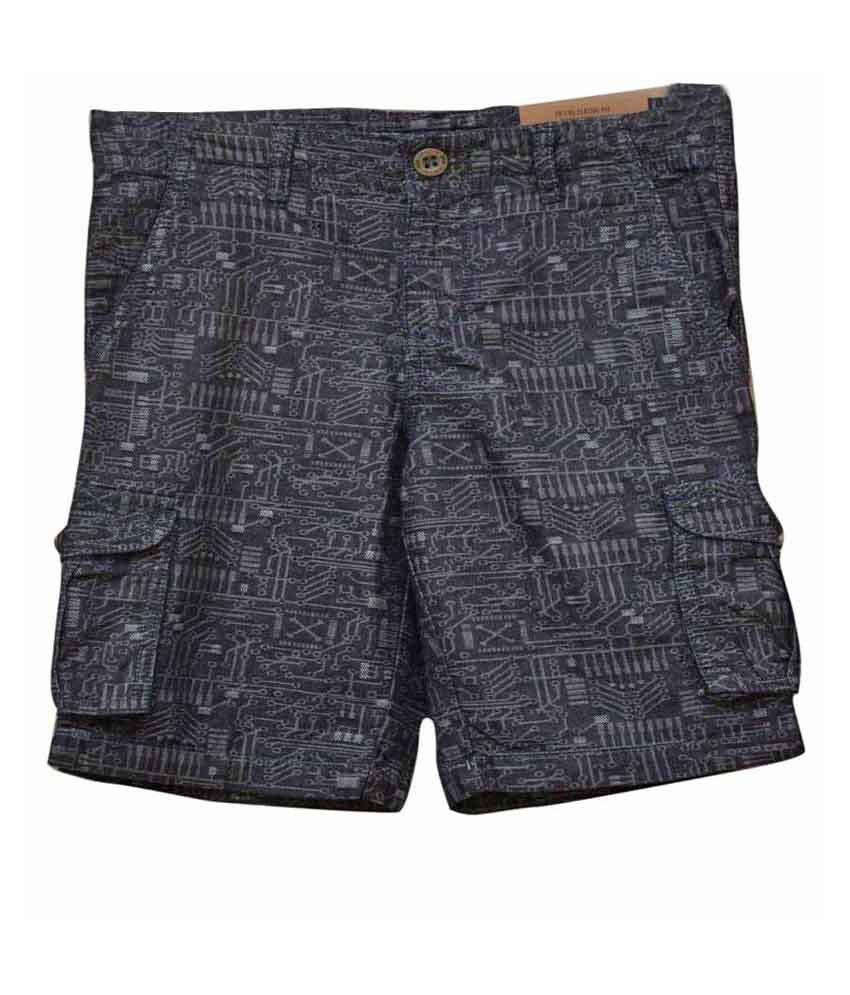 Titrit Soft Denim Blue Shorts For Boys