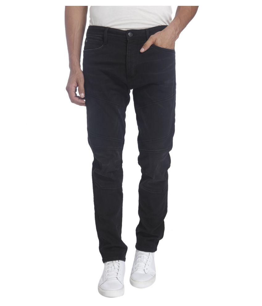 Jack & Jones Black Anti Fit Solid Jeans