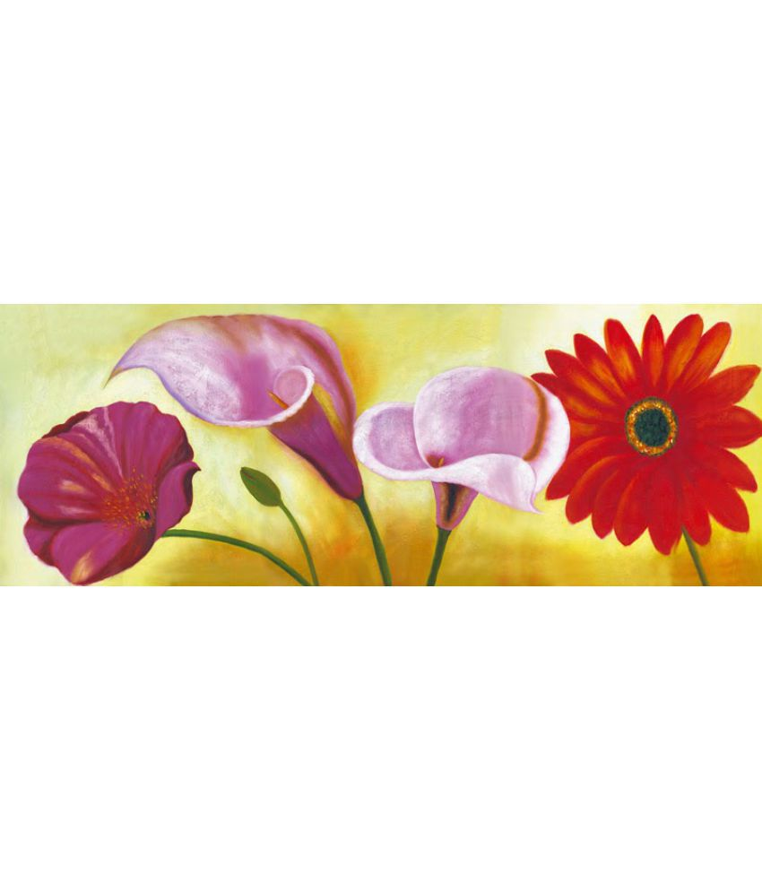 Vitalwalls Flower Paper Art Prints Without Frame Single Piece