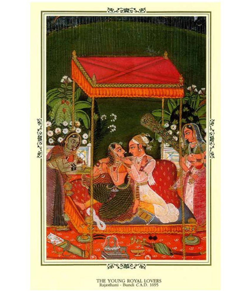 Magnate Publishing House Indian Miniature Painting of The Young Royal Lovers
