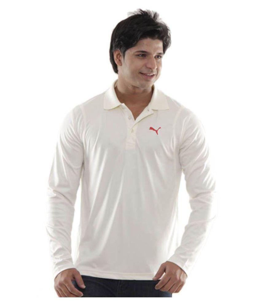 Puma White Polo T-Shirt