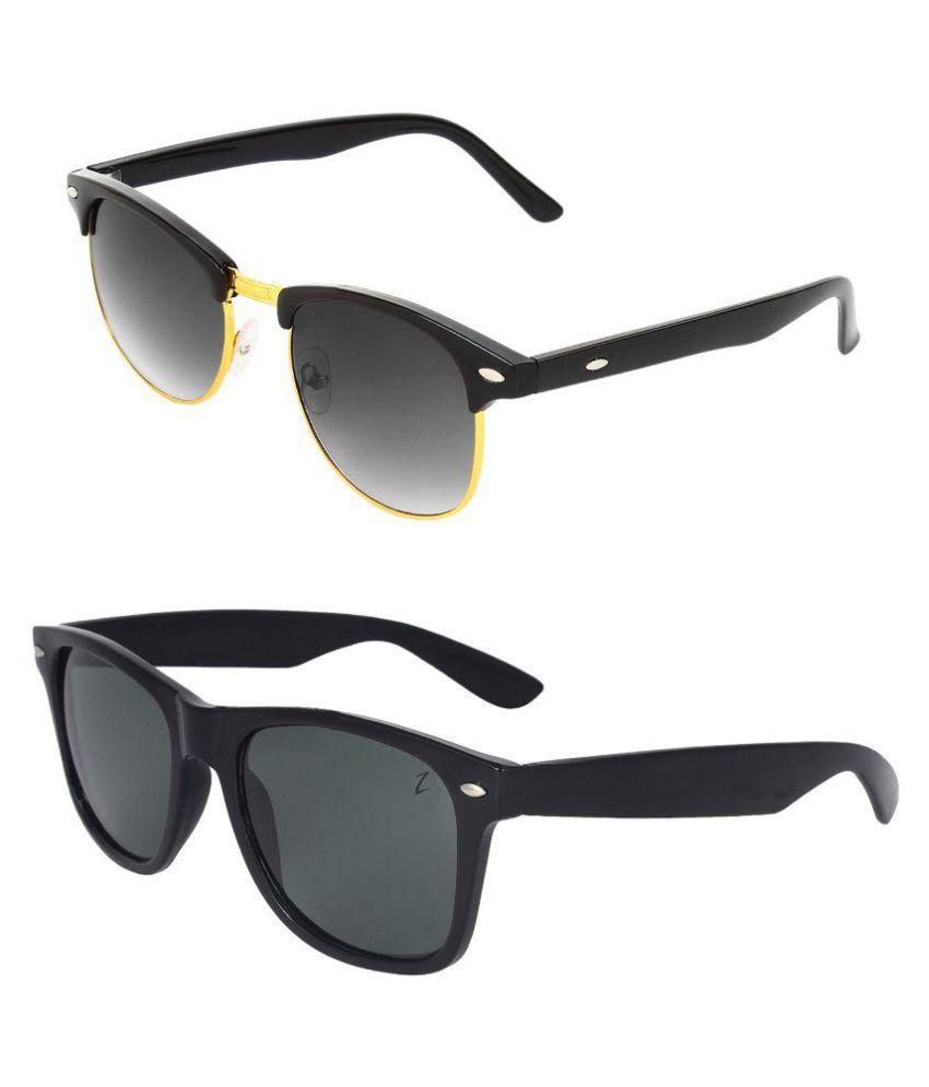 Zyaden Black Wayfarer Sunglasses ( Com-100 )