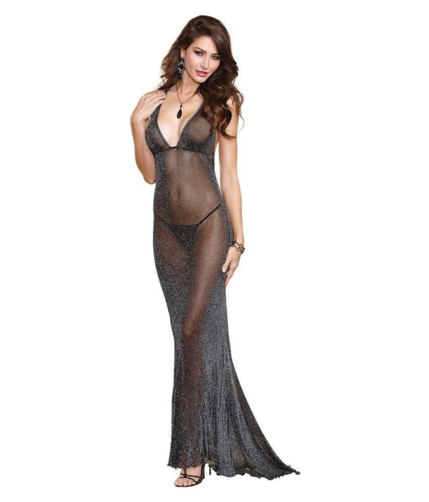Buy D Naked Black Baby Doll Dresses With G-String Panty Online at ...