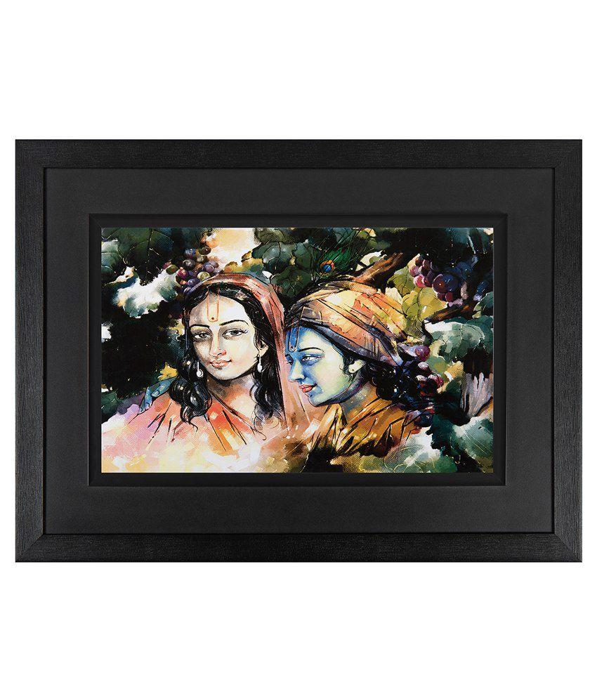 JAF  Radha Krishan Wood Art Prints With Double  Frame Single Piece