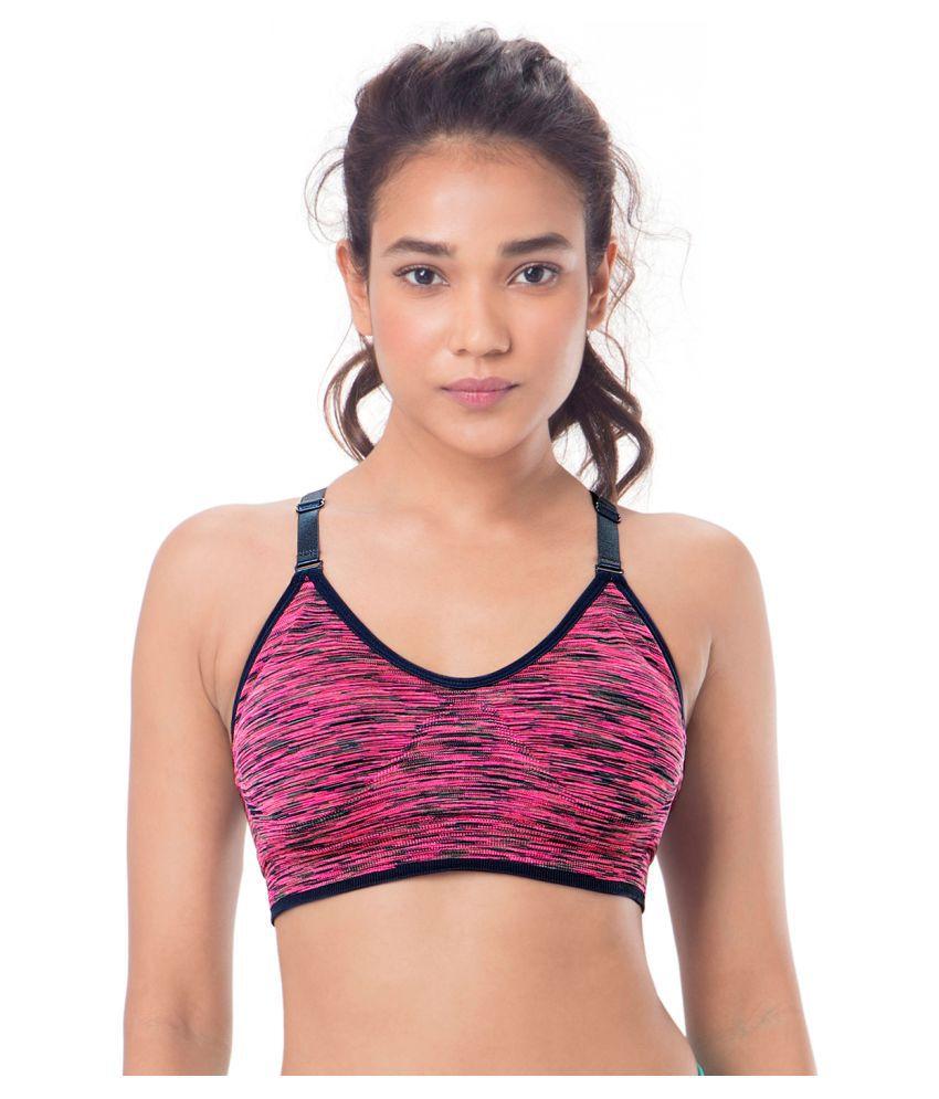 PrettySecrets Multi Color Polyester T-Shirt/ Seamless Bra