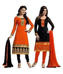 VR Fashion Multicoloured Cotton Anarkali Unstitched Dress Material
